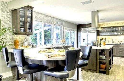 Clean Contemporary Warm Kitchen